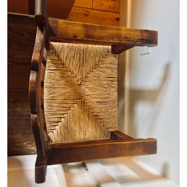 Early 20th Century Antique Mexican Frailero Chair For Sale - Image 4 of 5