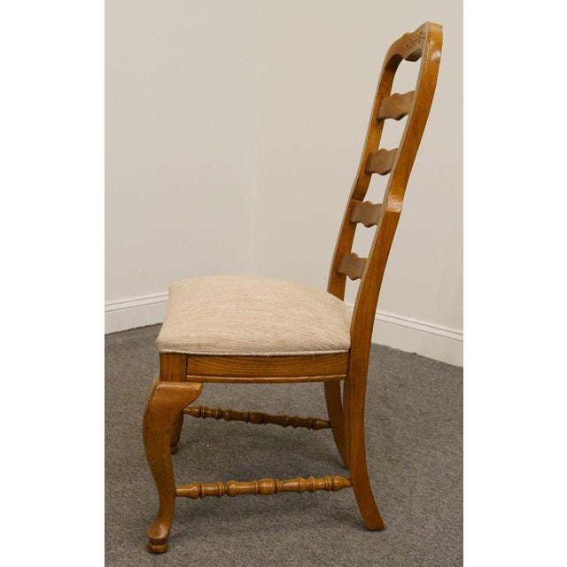 American Drew Saxony Collection Ladderback Dining Side Chair For Sale - Image 4 of 9