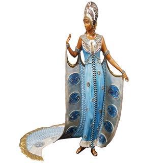 """Art Nouveau """"Iras"""" Limited Edition Bronze Statuette by Erte For Sale"""