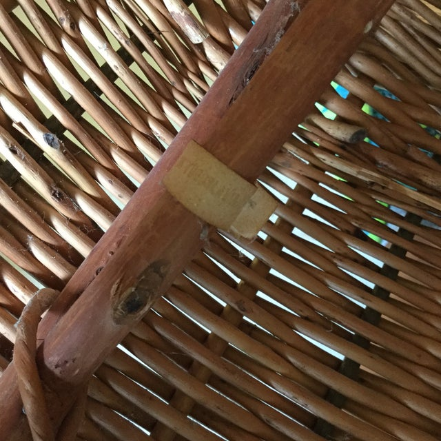 Tan 70s Wicker Lounge Chair For Sale - Image 8 of 10