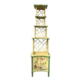 Chinese Chippendale Style Painted Shelf, French Chinoiserie