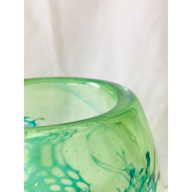 1960s Graal Sea Horse Glass Vase For Sale - Image 5 of 10