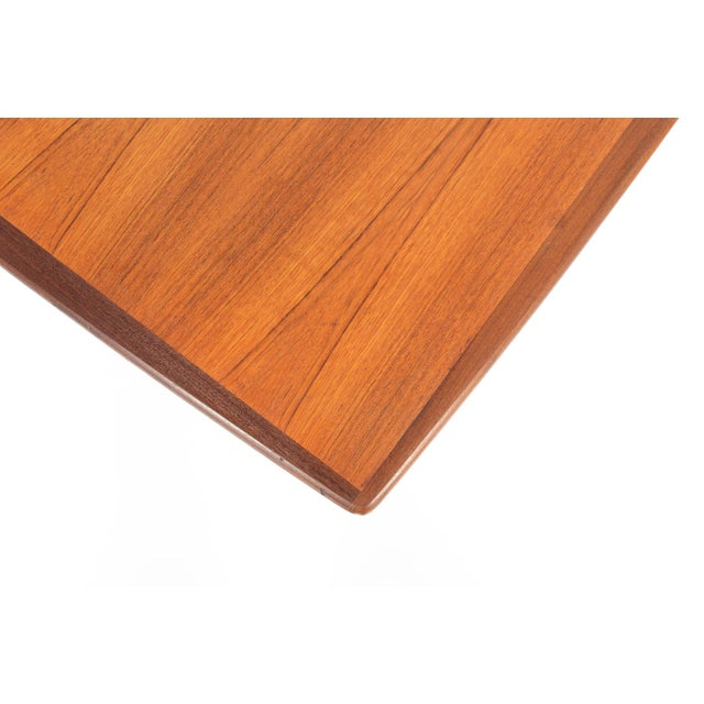 Mid-Century Danish Modern Square Teak Coffee Table - Image 3 of 8