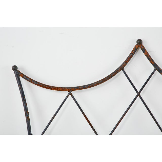Mid 20th Century Pair of Regency Style Iron and Bronze Headboards For Sale - Image 5 of 13