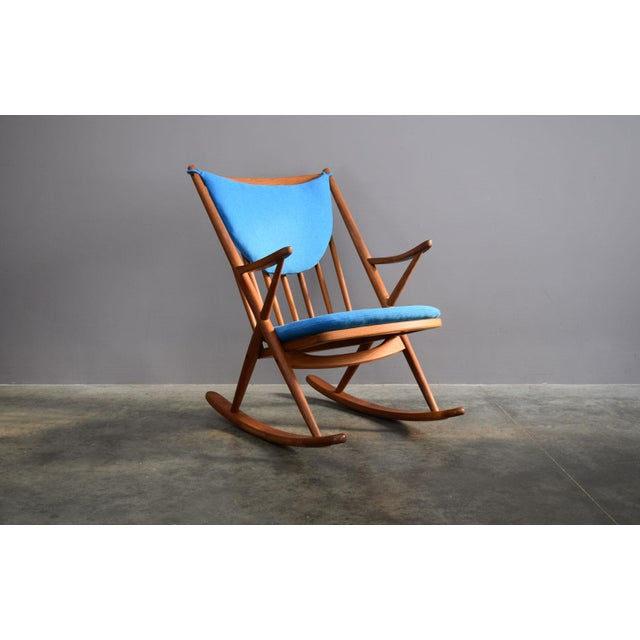 Beautifully Restored Teak Danish Frank Reenskaug Rocker For Sale - Image 9 of 9