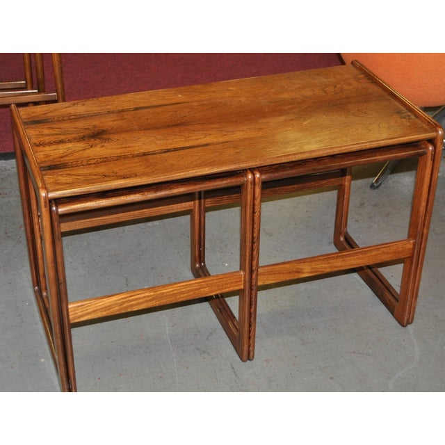 Vintage Rosewood Nesting Coffee Tables C.1960's - Image 3 of 4