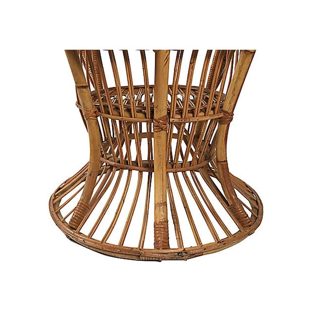 Rattan Wingback Chair by Lio Carminati For Sale - Image 10 of 12