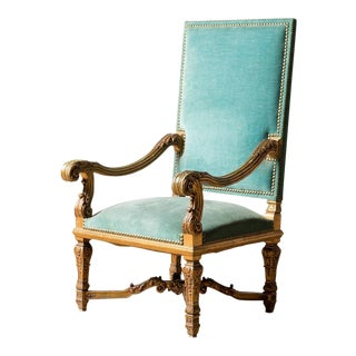 Antique Grand Fautieul Chair For Sale