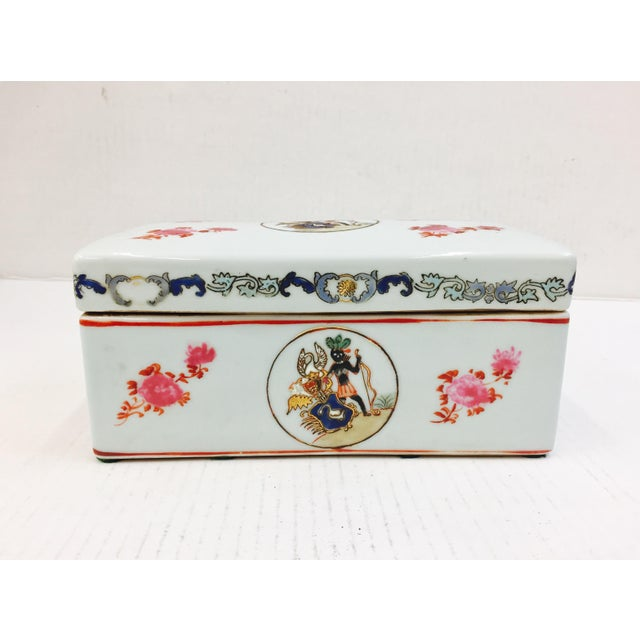 Vintage Porcelain Chinese Box For Sale - Image 4 of 8