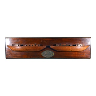 English Double Half Hull Ship Model For Sale