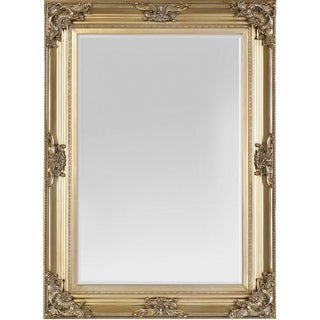 Beaumont Champagne Gold Solid Wood Frame Wall Mirror For Sale