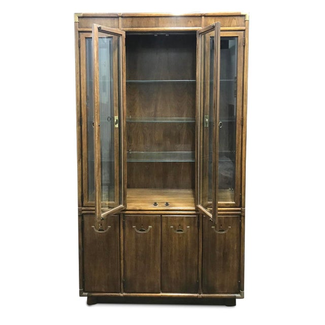 Metal Drexel Accolade Campaign China Cabinet For Sale - Image 7 of 12