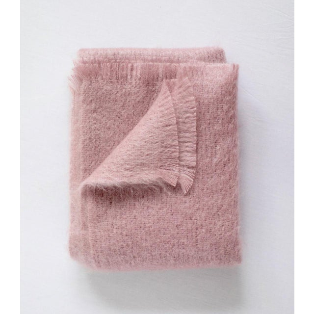 Mohair Throw in Rouge For Sale - Image 13 of 13