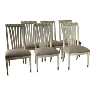 1990s Vintage Century Kitchen Dining Chairs- Set of 6 For Sale