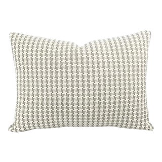 "Huron in Linen Lumbar Pillow Cover - 14"" X 20"" For Sale"