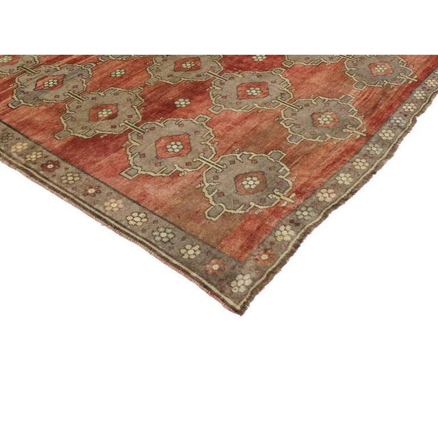 Modern Traditional Vintage Turkish Oushak Rug With Jacobean Style, 07'06 X 11'04 For Sale In Dallas - Image 6 of 10