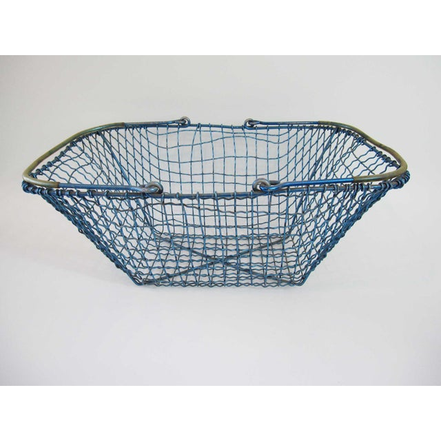 Vintage Industrial Style Anodized Aluminum Wire Market Baskets - Set ...