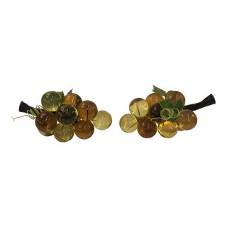 Vintage Champagne Lucite Grapes - a Pair For Sale