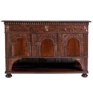 Carved Antique Italian Console