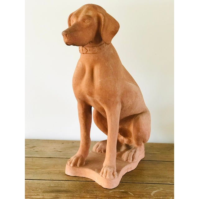 Italian Terracotta Statue of a Hound For Sale - Image 13 of 13
