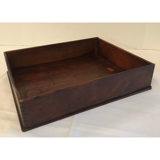 "Mid 20th Century Vintage Wooden ""In"" Box For Sale - Image 5 of 8"