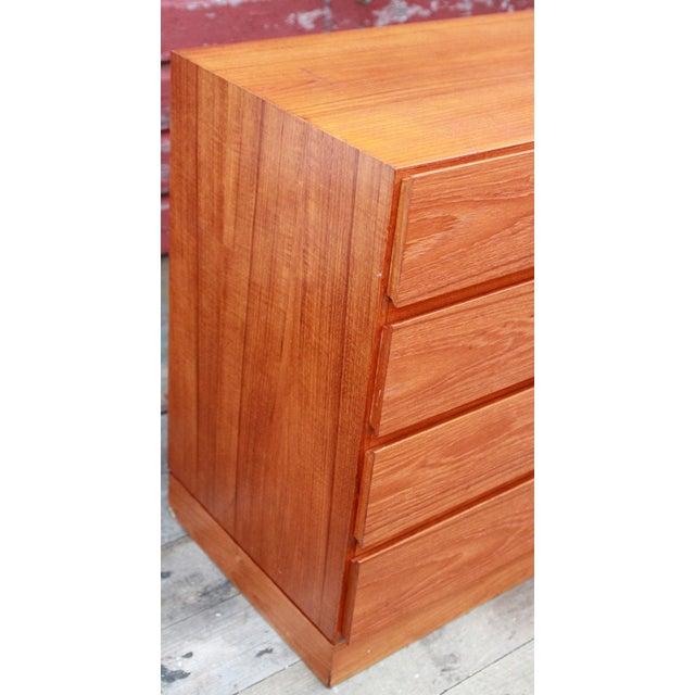 Danish Modern Teak Long Dresser by Arne Iversen for Vinde Mobelfabrik - Image 5 of 11