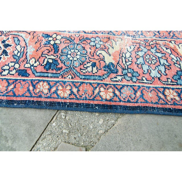 """Contemporary House of Séance - 1920s Vintage Mahal Geometric Medallion Wool Hand-Knotted Rug - 8'6"""" X 11'7"""" For Sale - Image 3 of 11"""