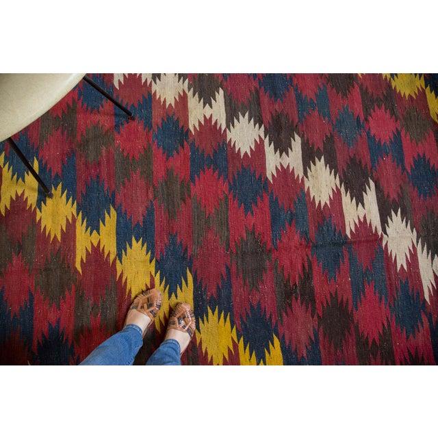 "Vintage Kilim Carpet - 6'4"" X 9'10"" - Image 5 of 6"
