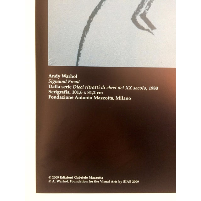Andy Warhol Sigmund Freud Original Offset Lithograph Print Poster 1980 For Sale In New York - Image 6 of 9