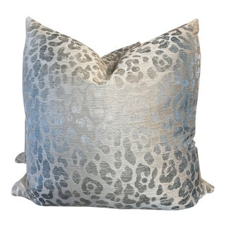 "Cowtan & Tout ""Jagger"" in Aqua 22"" Pillows-A Pair For Sale"