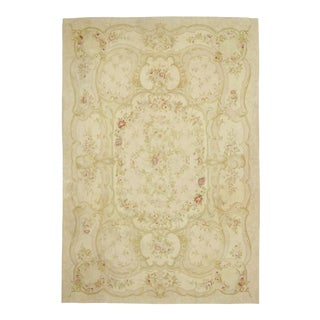 Vintage French Aubusson Rug - 09'10 X 14'04 For Sale