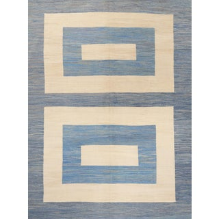 Schumacher Kilim Area Rug in Hand-Woven Wool, Patterson Flynn Martin For Sale