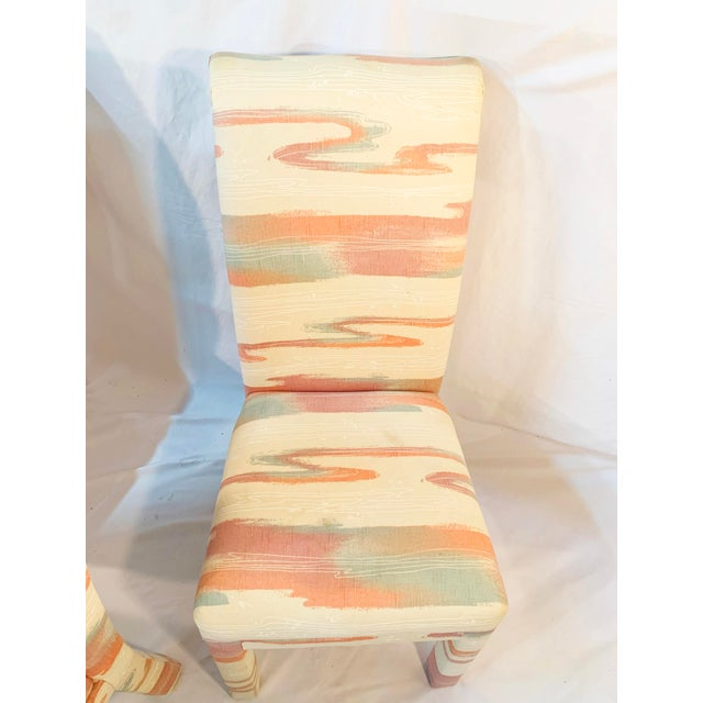 Vintage Mid-Century Parsons Tufted Chairs - Set of 4 For Sale - Image 9 of 11