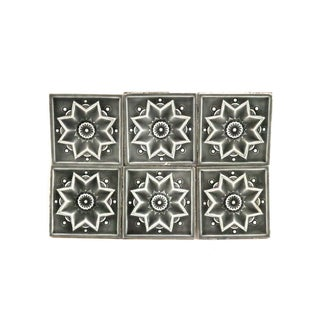 Antique 1890s Victorian Green Tiles - Set of 6 For Sale