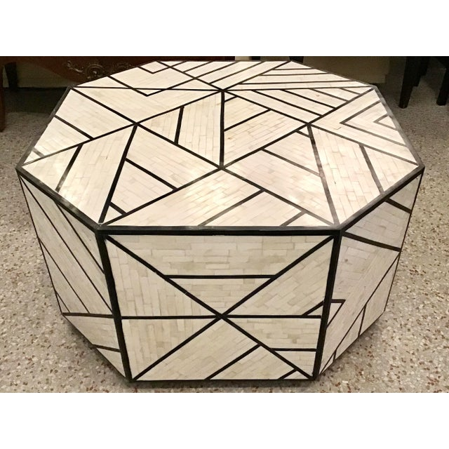 Modern Tessellated Bone Inlay Geometric Coffee Table For Sale - Image 11 of 11