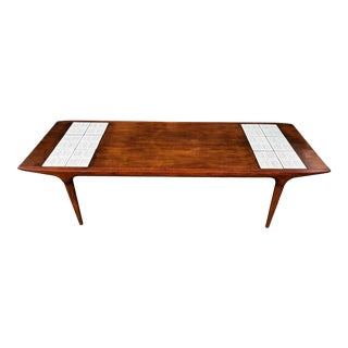 1970s Mid-Century Modern Lane Coffee Table With Tile For Sale