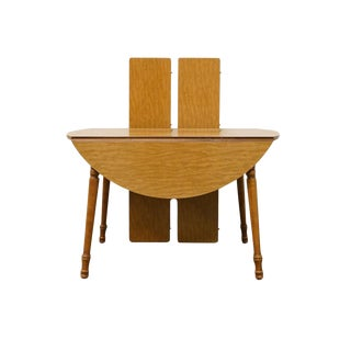 Late 20th Century Vintage Tell City Maple Drop-Leaf Dining Table For Sale