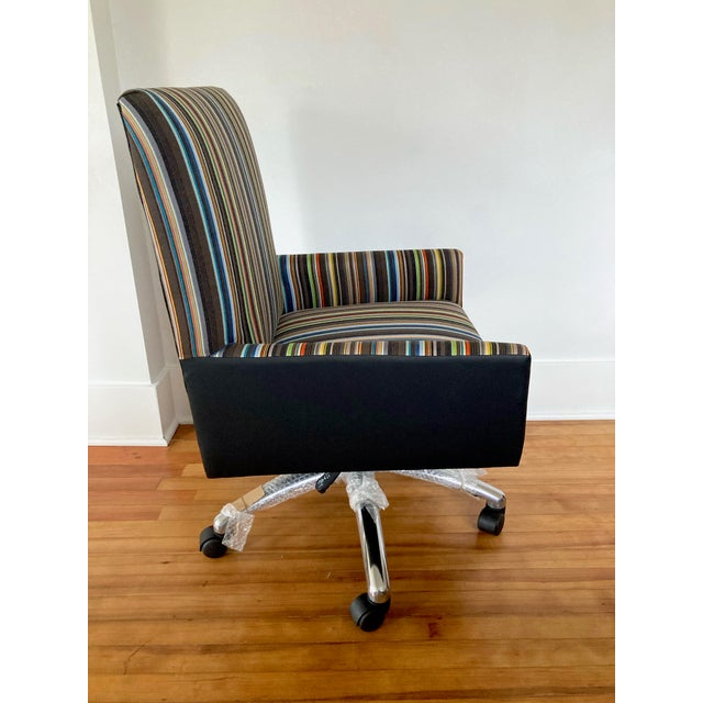 2010s J L F Collections Rolling Desk Chair For Sale - Image 5 of 12