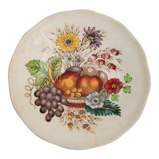 Vintage English Cottage Style Spode Saucer in the Reynolds Pattern For Sale