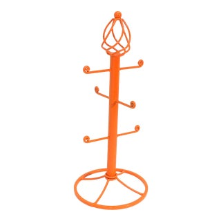 Vintage Orange Jewelry Holder Necklace Hand Towel Rack For Sale
