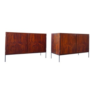 Carlo Jensen for Poul Hundevad C. 1960s Rosewood Credenzas - a Pair