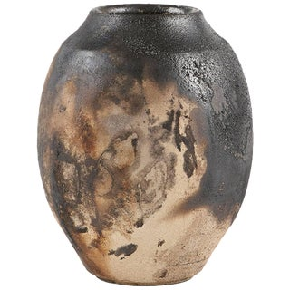 Ryan McDonald Ceramic Fire Smoked Pottery Pot #4 For Sale