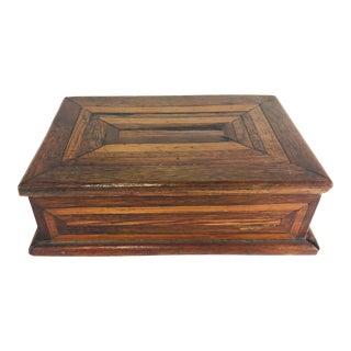 1900s Vintage Folk Art Geometric Dresser Box For Sale
