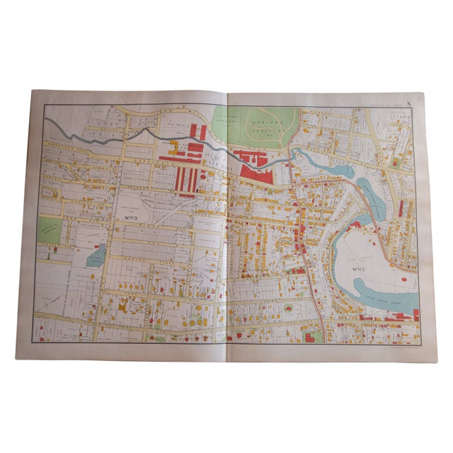 Antique Yonkers, New York Map For Sale