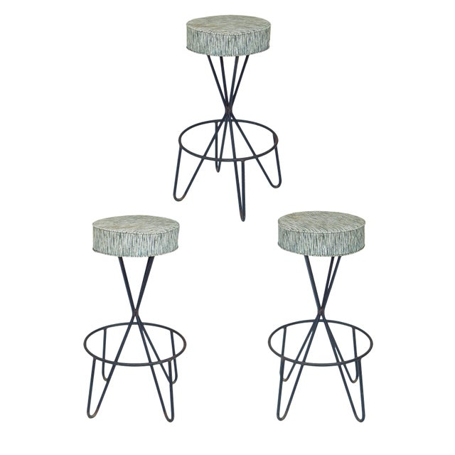 1960s Paul Tuttle Stools - Set of 3 For Sale - Image 12 of 12