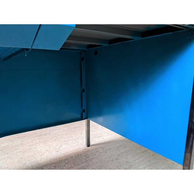 Turquoise Teal Steelcase Tanker Desk For Sale - Image 8 of 9