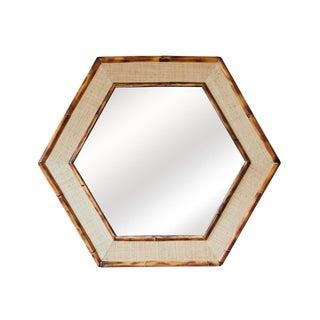 Jw Limited Edition Custom Line Hexagon Bamboo Mirror For Sale