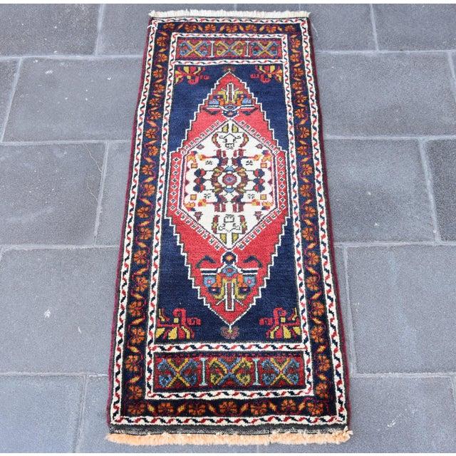 Vintage Turkish Oushak Handmade Rug - 1′7″ × 3′9″ - Image 2 of 6