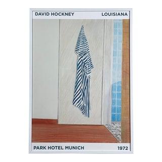 1972 David Hockney Museum for Moderne Kunst Exhibition Print (Framed) For Sale