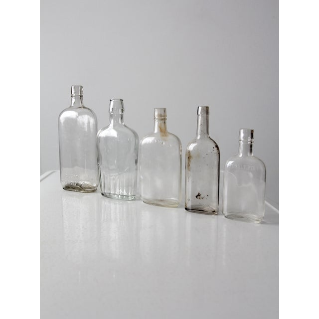 Antique Apothecary Bottle Collection - Set of 5 For Sale - Image 6 of 6
